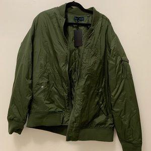 Men's XL Five Four Olive Bomber Jacket